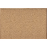 Ghent Natural Cork Bulletin Board with Wood Frame, 4'H x6'W