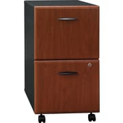 Bush Business Furniture Cubix 2 Drawer Mobile File Cabinet, Hansen Cherry/Galaxy (WC94452P)