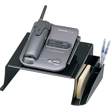 Staples Black Recycled Plastic Desk Collection, Telephone Stand
