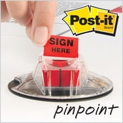"Post-it® 'Sign Here' Message Flags, 1"" Wide, Red, 200 Flags/Pack (680-HVSHR)"