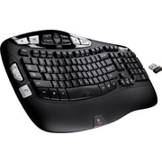 Logitech K350 Wireless Curved Full-Size Keyboard, Black (920-001996)