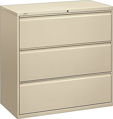 HON Brigade 800 Series 3 Drawer Lateral File, Putty/Beige,Letter/Legal, 42''W (HON893LL)