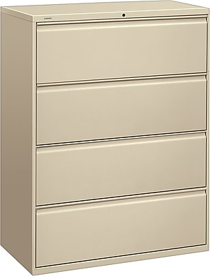 HON Brigade 800 Series 4 Drawer Lateral File, Putty/Beige,Letter/Legal, 42''W (H894LL)