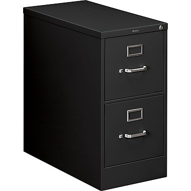 HON 210 Series 2 Drawer Vertical File, Black,Letter, 15''W (HON212PP)