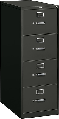 HON 310 Series 4 Drawer Vertical File Cabinet, Legal, Black, 26-1/2