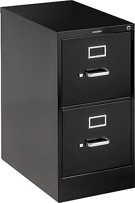 "HON 510 Series 2 Drawer Vertical File Cabinet, Legal, Black, 25""D (H512CPP)"