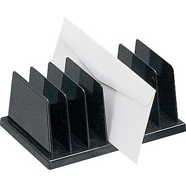 Staples Black Plastic Desk Collection (Recycled) Vertical Sorter (DPS03571)