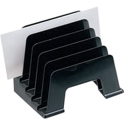 Staples Black Plastic Desk Collection, (Recycled) Incline Sorter