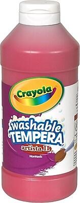 Binney & Smith Crayola® Artista II Washable Tempera Paint, Red, 16 oz.