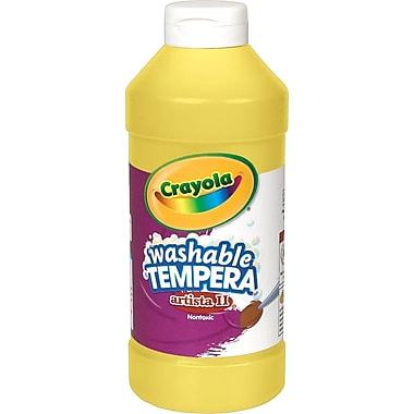 Crayola® Artista II Washable Tempera Paint, Yellow, 16 oz