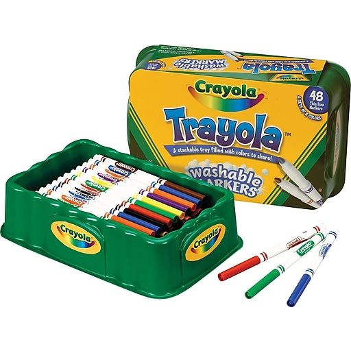 crayola trayola washable markers fine tip assorted colors 48