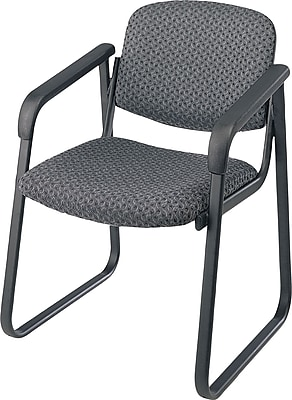 Office Star™ Deluxe Sled Base Guest Chair with Arms, Onyx