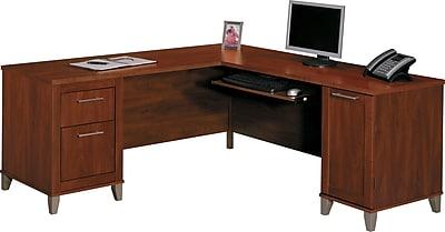 Bush Furniture Somerset 71W L Shaped Desk Hansen Cherry WC81710K