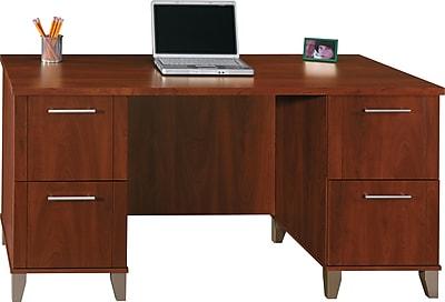 Bush Furniture Somerset Office Desk, Hansen Cherry (WC81728K)