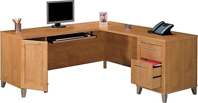Bush Furniture Somerset 71W L Shaped Desk, Maple Cross (WC81410K)