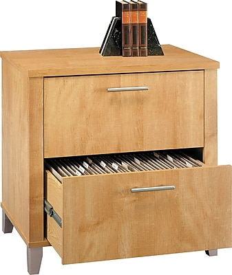 Bush Furniture Somerset Lateral File Cabinet, Maple Cross (WC81480) 462535