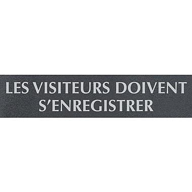 Headline Sign® - Affiche « LES VISITEURS DOIVENT S'ENREGISTRER », français