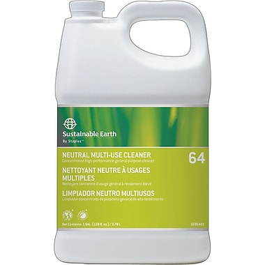 Staples Sustainable Earth Neutral Cleaner #64, 1gal (SEB6401-CC)