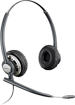 plantronics hw301n encorepro wired office telephone headset with rh staples com