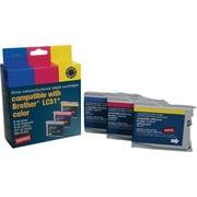 Staples® – Cartouches d'encre couleur remises à neuf, Brother LC51, paq. combiné (SIB-R10C3)