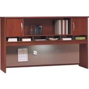"""Bush Business Furniture Westfield 72""""W 2 Door Hutch, Hansen Cherry/Graphite Grey (WC24466K)"""