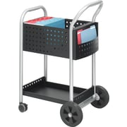 "Safco® Scoot™ Mail Cart, Black, 40 1/2""H x 22""W x 27""D"