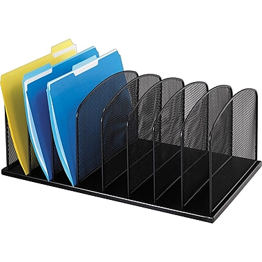 Safco® Onyx Mesh 8-Section Upright Organizer