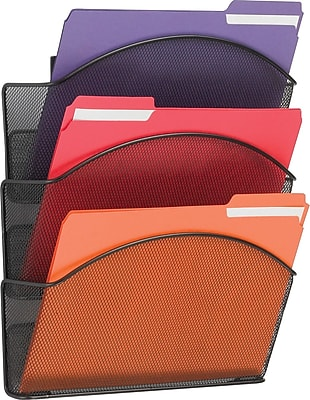 SAFCO Onyx Mesh Wall Files Letter Size- Triple Pocket (5652BL)