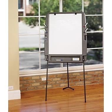 Portable Flipchart Easel, Dry Erase Surface - Charcoal