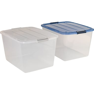 Iris 53.65 Quart Stack-N-Pull Boxes, Assorted Colors