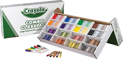 Crayola® Classpack® Crayons w/Markers,  8 Colors, 128 Each Crayons/Markers, 256/Box