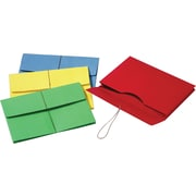 Pendaflex Colored Expanding Wallets w/Elastic Cords, Legal, Assorted Colors