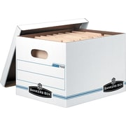 Bankers Box Basic-Strength Stor/File Storage Boxes, 6/Pack
