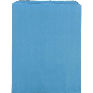 Sacs à marchandises plats en papier, 8 1/2 po x 11 po, bleu ciel