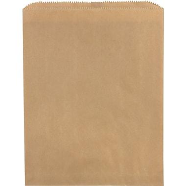 Sacs à marchandises plats en papier, 6 1/4 po x 6 1/4 po, kraft