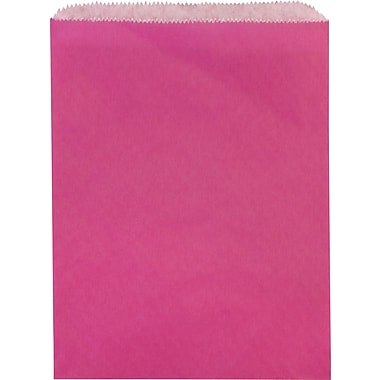 Sacs à marchandises plats en papier, 8 1/2 po x 11 po, rose aciculaire