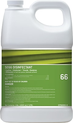Staples® #66 Disinfectant and Sanitizer, Unscented, 1 Gallon