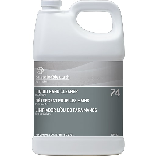 Sustainable Earth By Staples 74 Liquid Hand Soap Unscented 1gal Each Seb7401 Cc
