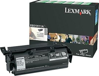 Lexmark X651H11A Black Return Program Toner Cartridge, High Yield