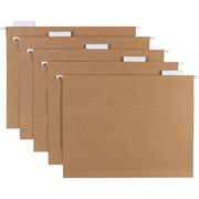Sustainable Earth by Staples® Hanging File Folders, 5-Tab Letter, Natural Brown, 25/Box (16907)