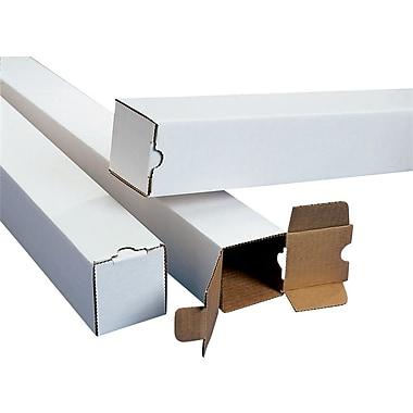 Square Mailing Tubes, White