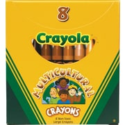 "Binney & Smith Crayola® Large Multicultural Crayons, 4"" x 7/16"", 8/Bx"