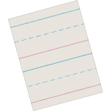 Pacon® Zaner-Bloser™ ZP2694 Picture Story Paper, Clean White, 12