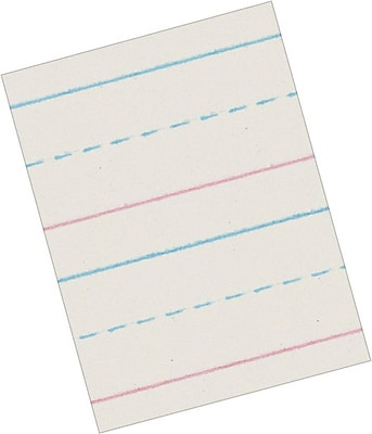 Pacon Zaner-Bloser Picture Story Paper, White, 5/8
