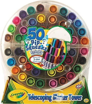 Crayola® Pip-Squeaks™ Markers, Telescoping Marker Tower, 50/Count