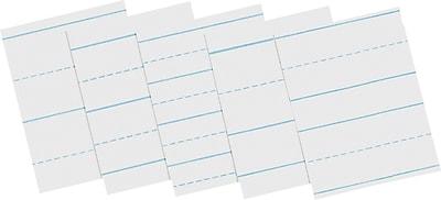 Pacon® Economical Newsprint; Grade 2, Alt. Broken Line Skip 3-1/4