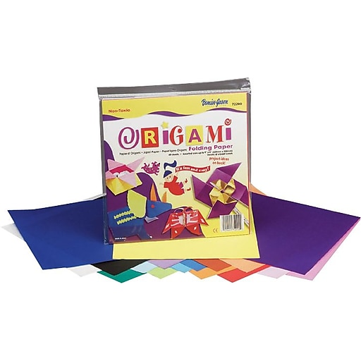 "Pacon Origami Paper, Assorted Colors, 9""H x 9""W, 40 Sheets/Pk"