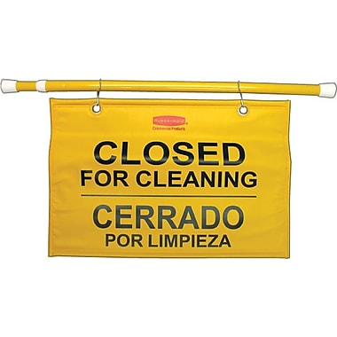 Rubbermaid® Site Safety Hanging Sign, Yellow