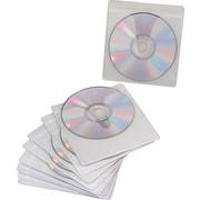 Staples® Adhesive CD/DVD Sleeves, Transparent, 10/Pk