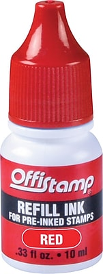 Offistamp Pre-Inked Stamp, Red Ink Refill
